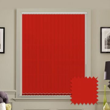 Made to measure vertical blinds in Red plain fabric